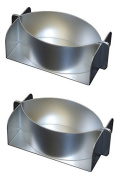 Alan Silverwood Aluminium Set of 2 Little John Pie Mould Tin