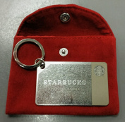Starbucks Coffee 2014 Holiday Sterling .925 Silver Mini Gift Card Keychain
