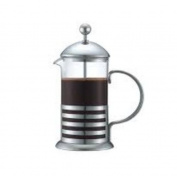 French Press Coffee Maker, 590ml, Clear (Bundled with 3- 30ml Ground Coffee Taster Samples