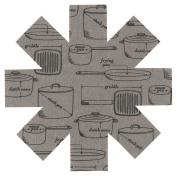 Now Designs Pan Pots and Pans Print Protectors, Grey, Set of 3