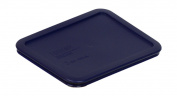 Pyrex Blue Rectangle 3 Cup (750ml) Plastic Storage Cover