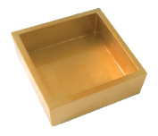 Entertaining with Caspari Lacquer Cocktail Napkin Holder, Gold