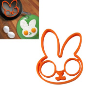 Binmer(TM)1pcs Egg Little Cute White Rabbit Shaper Egg Mould Silicone Moulds Egg Ring Silicone Mould Cooking Breakfast Tools