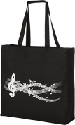 Large Gusseted Canvas Music Tote Bag