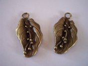 2 Pieces Antique Bronze Large, Leaf Charms Jewellery Findings, Jewellery Supplies, Earrings