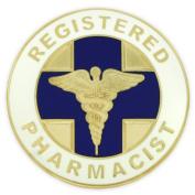 Registered Pharmacist Medical Caduceus Lapel Pin
