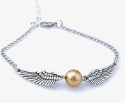Golden Snitch Bracelet, Silver Double Sided Wings