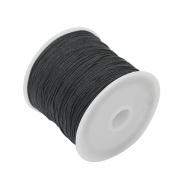Useful Black Nylon Cord Thread 40m Length 1mm Beading Bracelet Necklace Wire