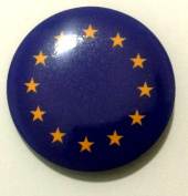 Europian Union EU Flag Lapel Pin Button Badge Applique Emblem 3 Cm Diameter