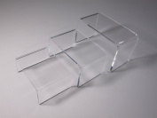 3 Piece Set Clear Riser Acrylic Small Showcase Jewellery Fixtures