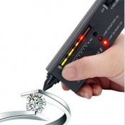 NEW V2 Diamond Gemstone Gems Jewellery Tester Selector Tool LED Audio Portable