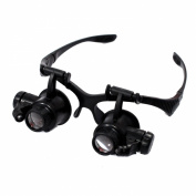 Jewellers Loupe Illuminated Hands Free Magnifying Head Set
