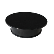20cm Black Velvet Top Motorised Rotating Display Turntable Ideal for Jewellery Hobby Collectible Product