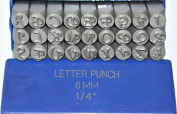 "Supply Guy 6mm Elegant/Corsiva Font Alphabet Punch Metal Letter Jewellery Stamp Set, 27 Pieces Including "" & "", Available in Uppercase Set Only"