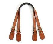 60cm byhands Genuine Leather Crack Pattern Tan Purse Handles