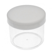 1pc Beads Display Storage Container Acrylic Clear W/Cap 6.6x6.6x5.7cm