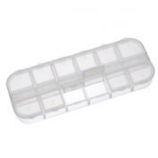 1pc Beads Display Storage Container Acrylic Clear 12 Compartments 13x5x1.5cm