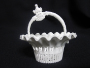 Lot of 36 of White Vintage Party or Nut Basket with Handle