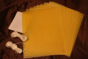 20 Organic Beeswax Sheets 23cm X 30cm make your own candle kit