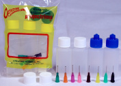 Creative Hobbies® Multi Purpose Precision Applicator Super Assortment Set with Four 30ml Bottles and 8 Tip Sizes