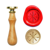 UNIQOOO Arts & Crafts Arrows Darts Compass Wax Sealing Stamp invitation Letter Gift Wine