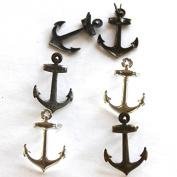 Eyelet Outlet Shape Brads 12/Pkg-Metallic Anchor