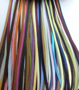UnCommon Artistry Faux Suede Leather Cord Assorted Colours 3mm - 1 Metre ea x 20 Colours