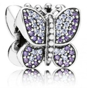 Pandora Sparkling Butterfly Sterling Silver Charm No. 791257acz