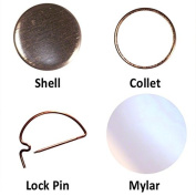1000 2.5cm Button parts for Pin Maker / Badge Machine 2.5cm pinback parts lot of 1000 from PeoplePowerPress