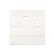 Hanging Earring Cards White 5.1cm x 5.1cm (100-Pcs) Jewellery Display