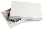 White Swirl Cotton Filled Jewellery Box #75