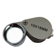 10x Magnification Pocket Folding Jewellers Hand Loupe 10x18mm