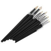 Clay Colour Shapers Black Wood Shank Pottery Painting Tools Pack Of 9