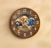 All Hands On Deck Puppies Clock by Rosemary Millette