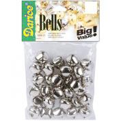 Darice 30-Piece Bells, 1.9cm , Silver