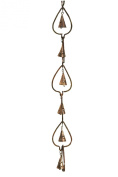 Ancient Graffiti Flame Aspen Leaves with Bells Ornament Hanging, 3 by 7.6cm by 120cm