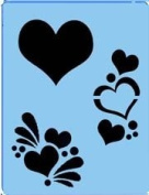 Face Painting Stencil - QuickEZ/Hearts Effect #15