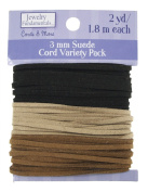 Sulyn Suede Leather Cord Variety Pack, Neutral