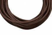 Full-grain leather cord, 3mm round brown 5 yard
