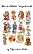 Victorian Children 101 Collage Sheet