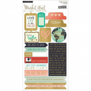 My Minds Eye Market Street Cardstock Stickers, Ashbury Heights Decorative