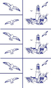 Armour Etch Stencil Rub N Etch Stencil, Lighthouse, 13cm by 20cm