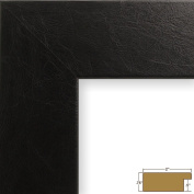 Craig Frames 74093 28cm by 43cm Picture Frame, Lightly Textured Finish, 5.1cm Wide, Black Executive Leather