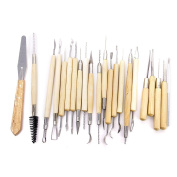 22pcs Pottery Clay Sculpture Carving Tool Set Assorted Length