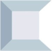 Stained Glass 5.1cm X 5.1cm Clear Square Bevels Pack of 10