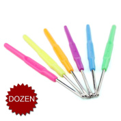 (Price/Dozen)GOGO Loom Metal Hook For Loom Rubber Bands Refill DIY Tool - Mixed Colours Hooks