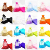 Metronic 100pc 13cm X 18cm Mixed Colour Jewellery Gift Organza Bag Candy Ponch Wedding favours