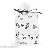 PAW PRINT Gusset Cello Bag - All-occasion Favour Gift 10cm X 5.1cm X 23cm Set of 20