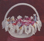 "Vintage Crochet PATTERN to make - ""Milk Glass"" Candy Dish Basket Decor. NOT a finished item. This is a pattern and/or instructions to make the item only."