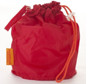 Red Medium GoKnit Pouch Project Bag w/ Loop & Drawstring